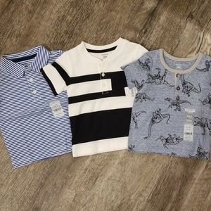 NWT Carters baby boy 3 pack shirts